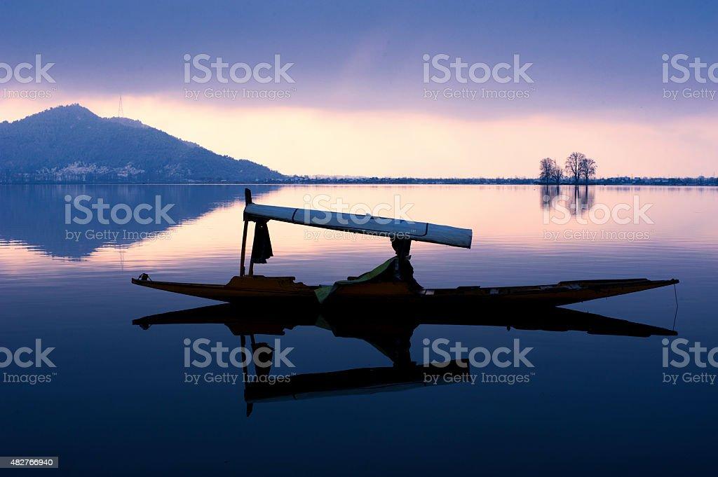 Evening on Dal lake stock photo