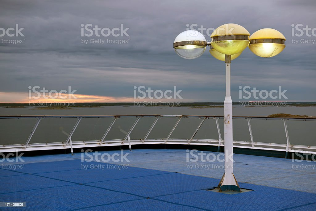 Evening on Ship Baltic Sea Europe royalty-free stock photo