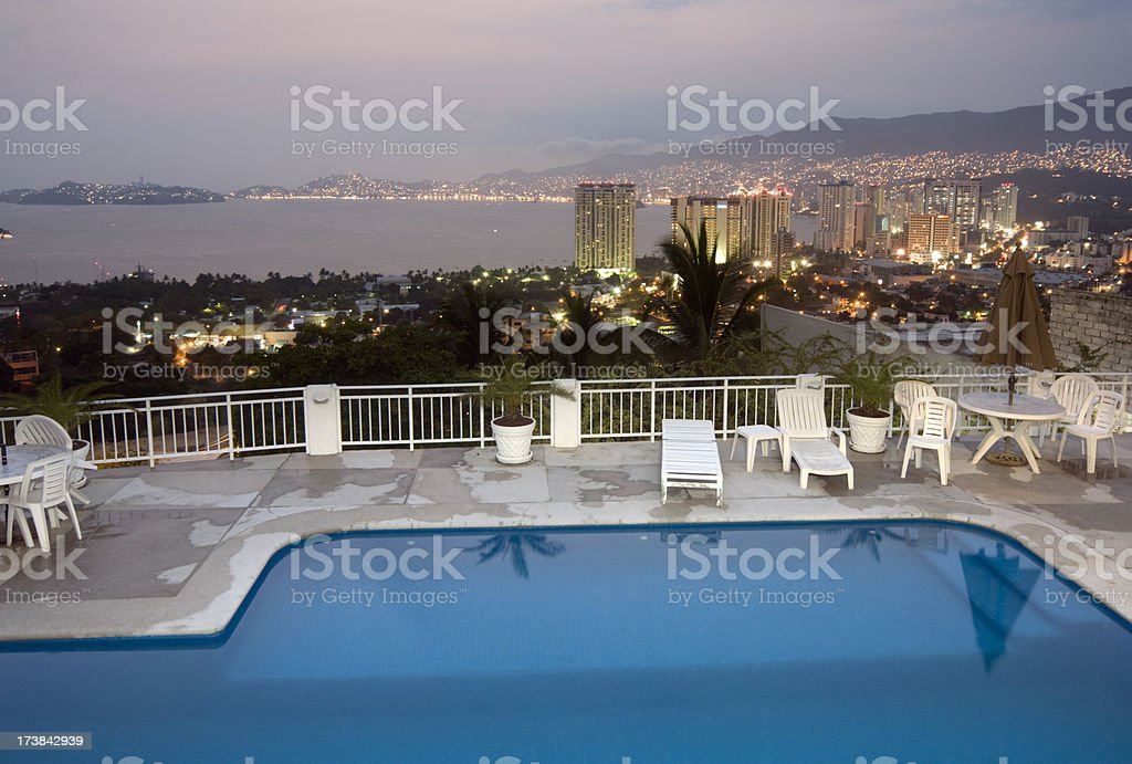 Evening over Acapulco royalty-free stock photo