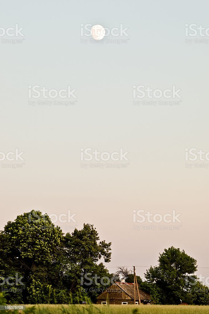 Evening over farmstead royalty-free stock photo