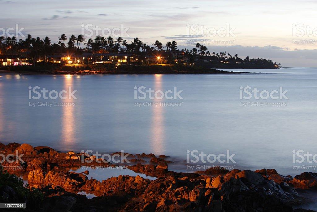 Evening Over Napili Bay stock photo
