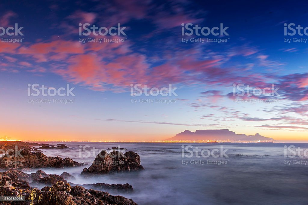 Evening over Table Mountain stock photo
