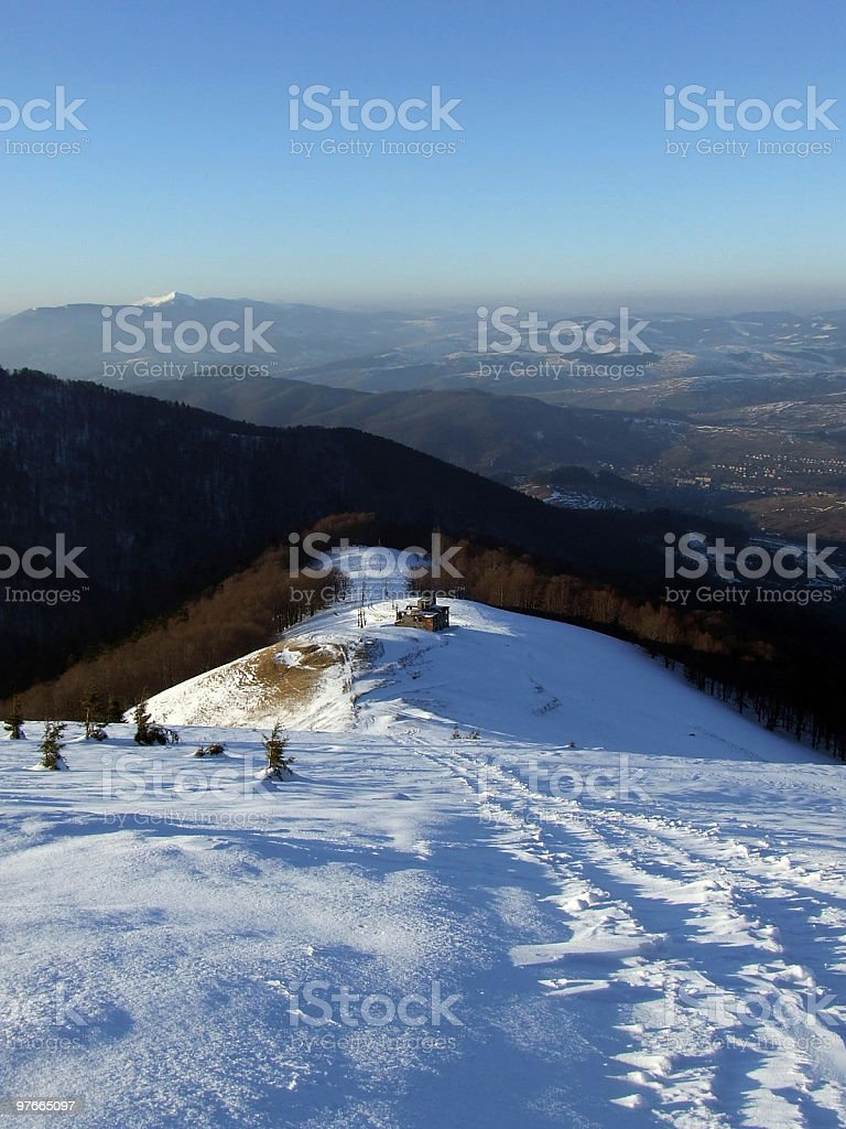 Evening Over The Mountains royalty-free stock photo