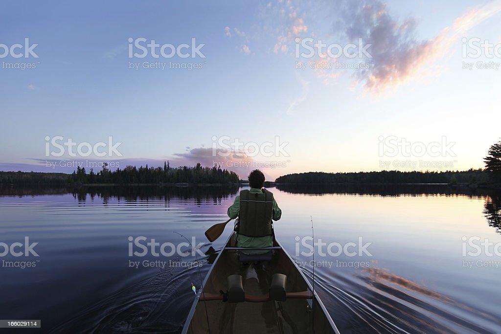 Evening Paddle stock photo
