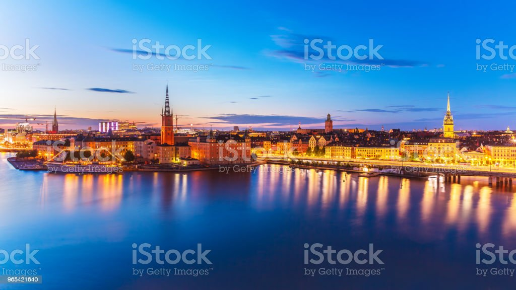 Evening panorama of Stockholm, Sweden royalty-free stock photo