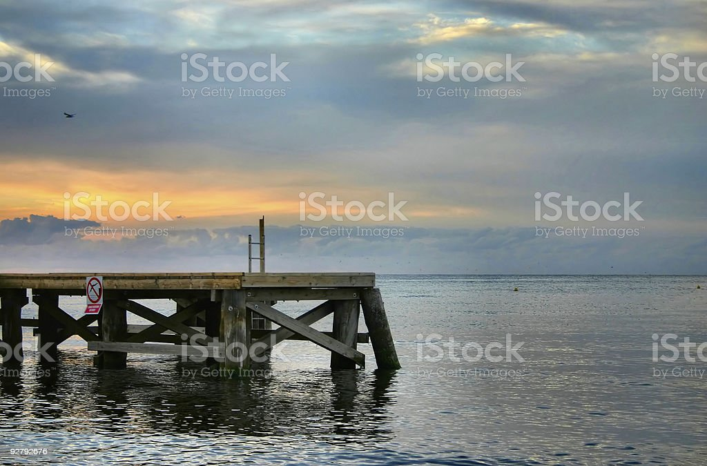 evening pier royalty-free stock photo