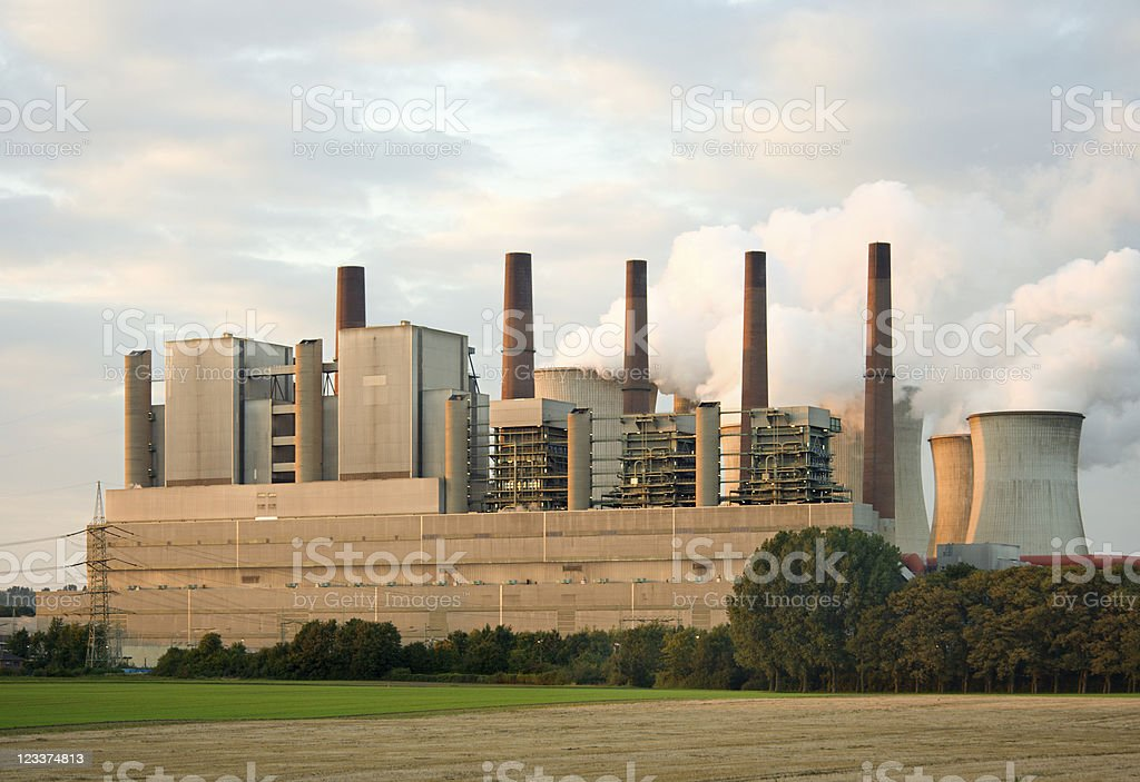 Evening Power Station stock photo