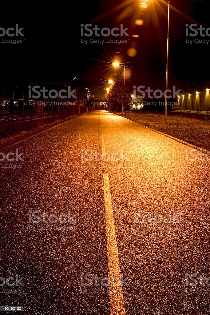 evening road royalty-free stock photo