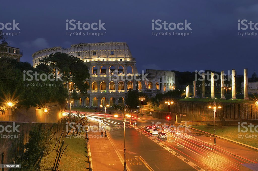 Evening Rome. royalty-free stock photo