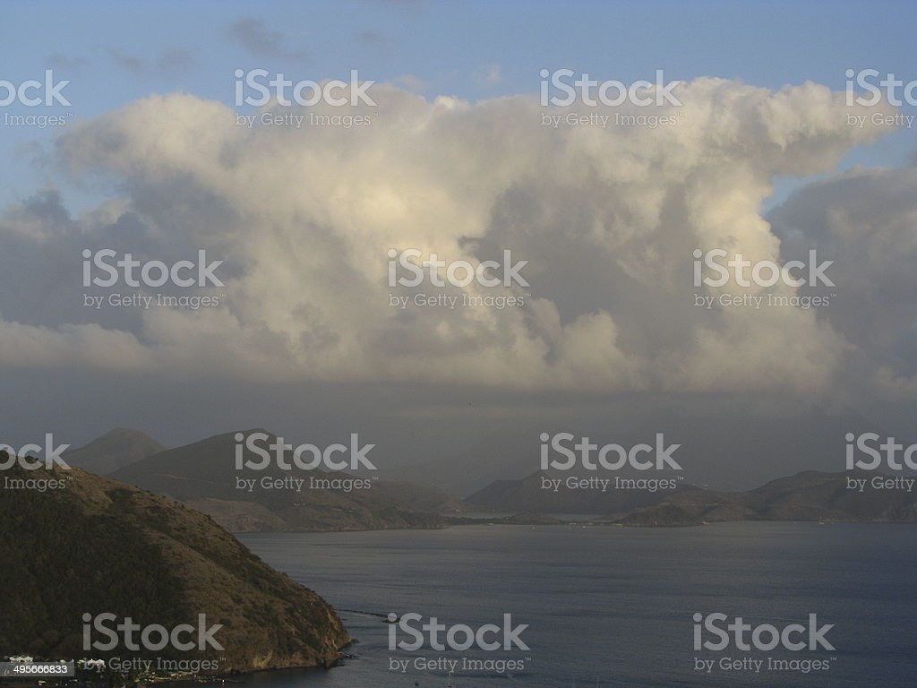 evening Saint Kitts and Nevis royalty-free stock photo