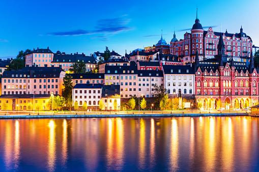 져녁 경치 구도시스톡홀름 스웨덴 0명에 대한 스톡 사진 및 기타 이미지