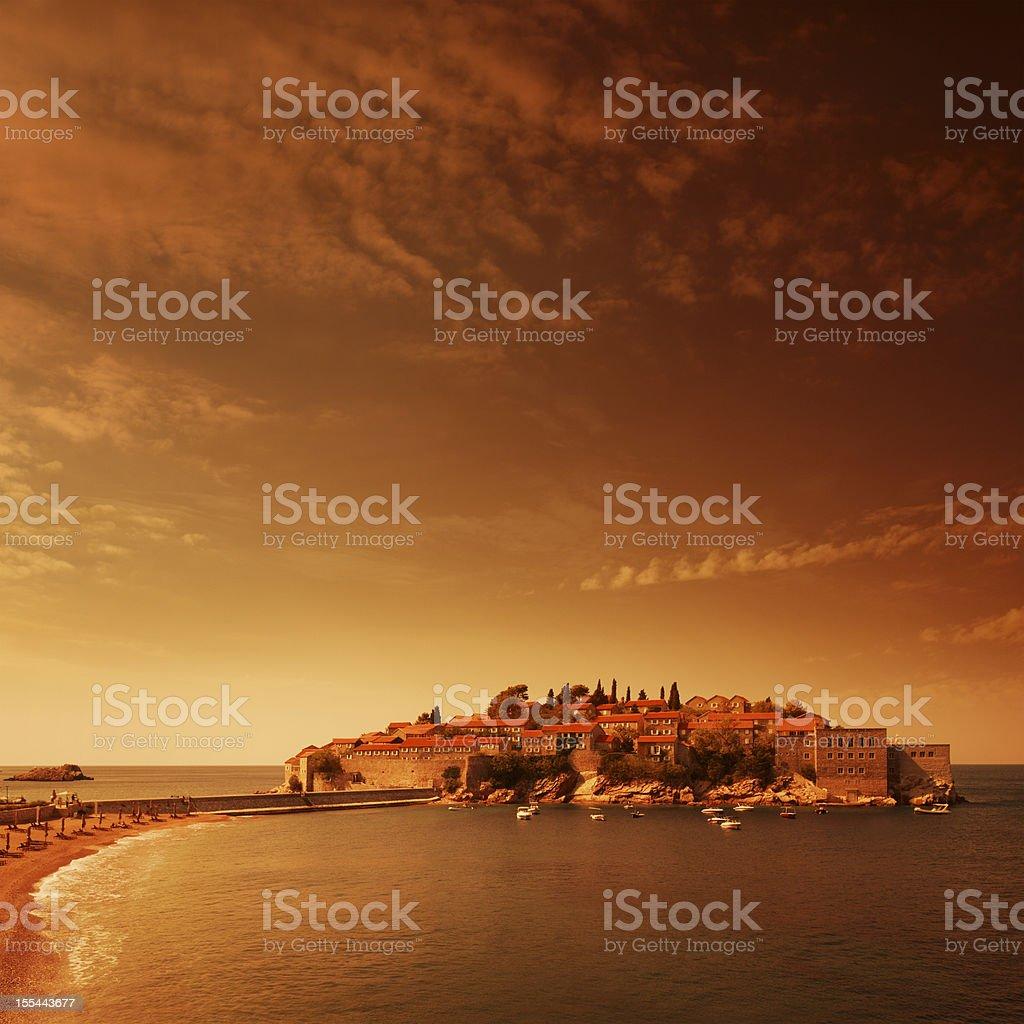 Evening sea landsape royalty-free stock photo
