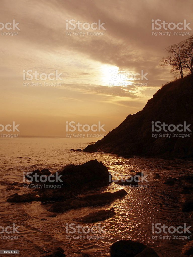 Evening sea royalty-free stock photo