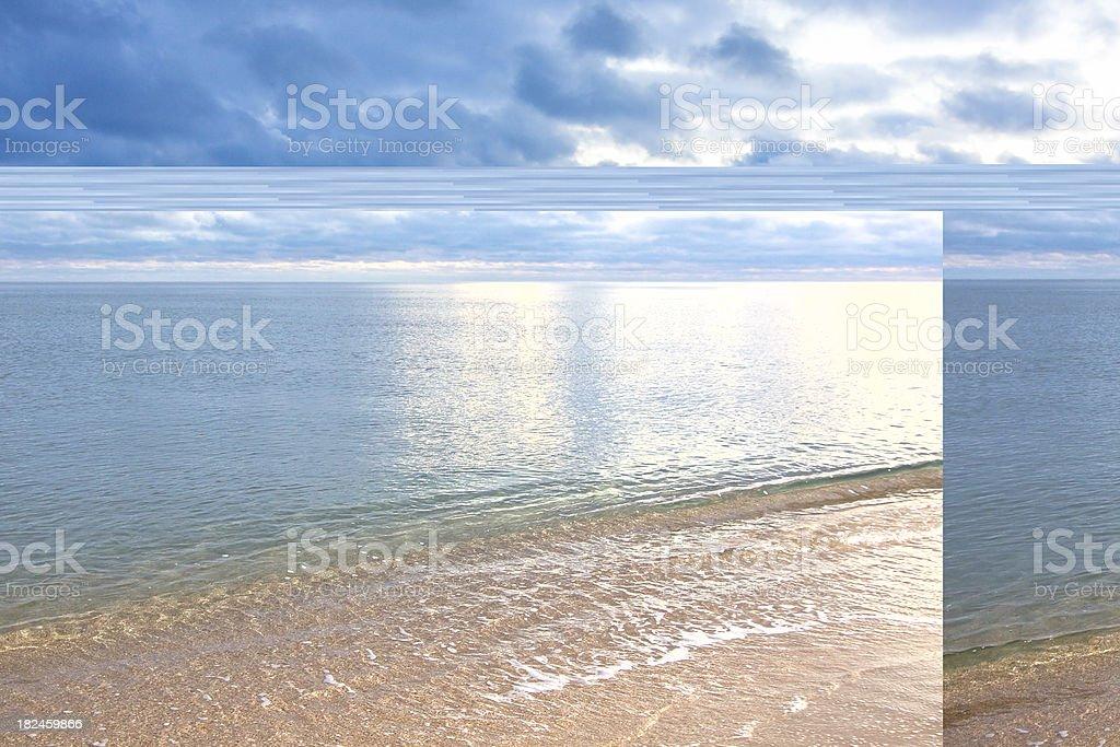 evening seacoast royalty-free stock photo