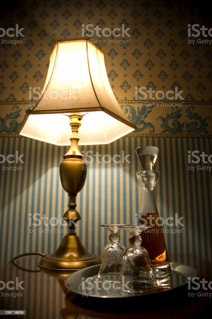 Evening Sherry royalty-free stock photo
