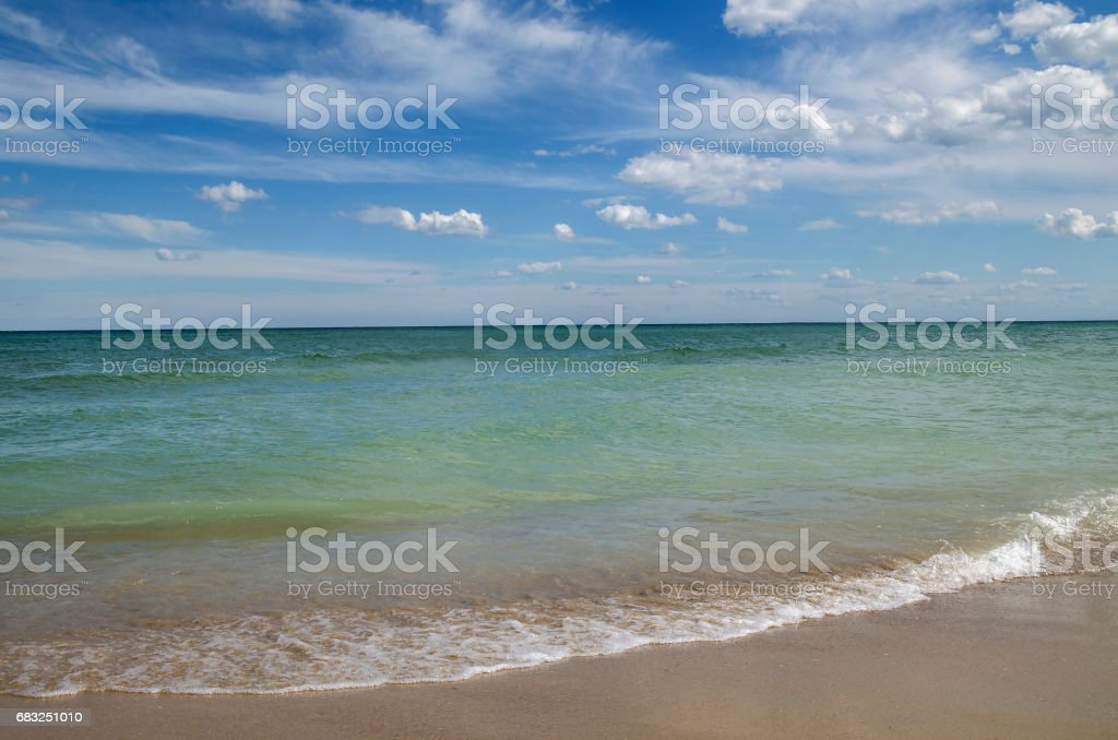 Evening shore of the Black Sea royalty-free stock photo