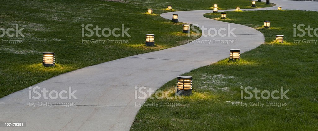Evening Sidewalk stock photo