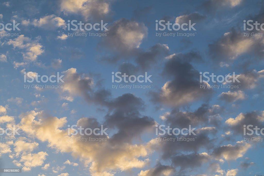 Evening sky and clouds royaltyfri bildbanksbilder