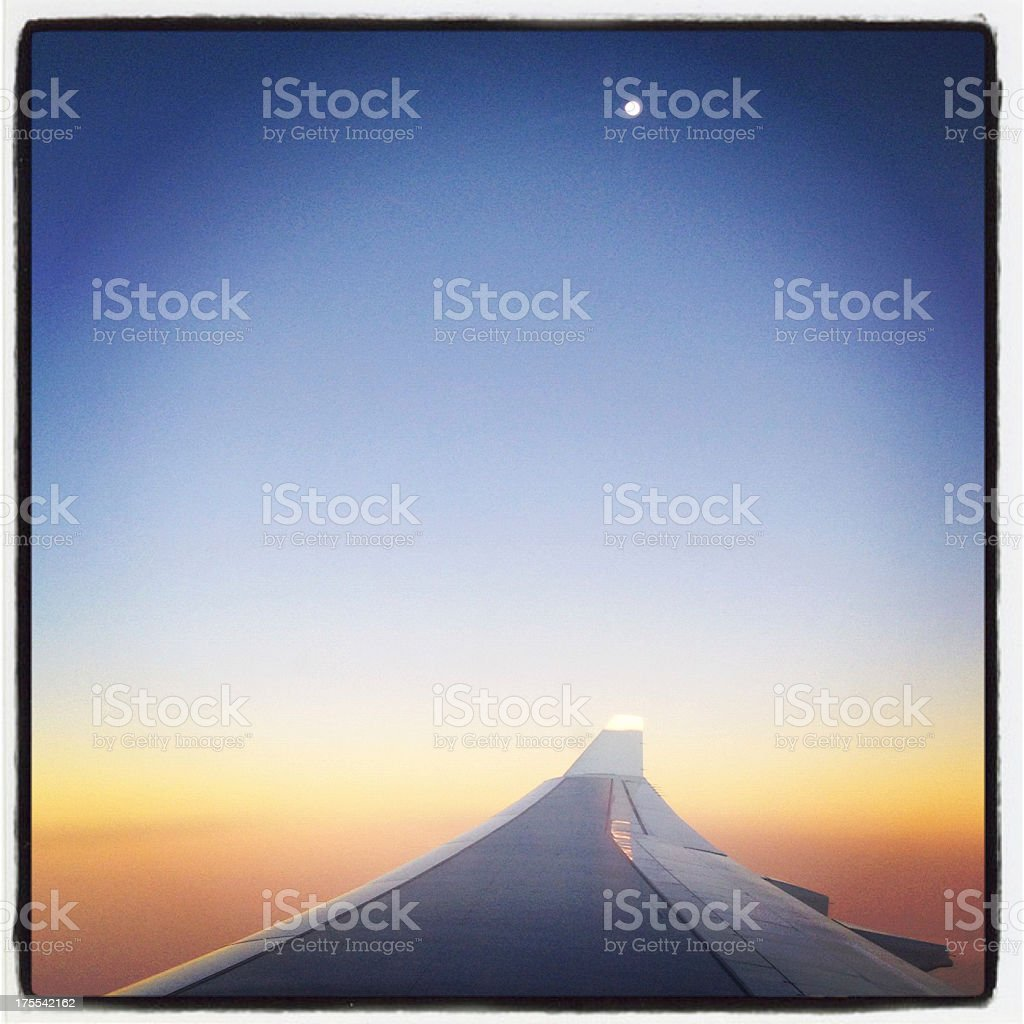 Evening Sky over Queensland, Australia stock photo