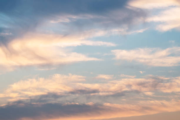 Evening sky The beautiful evening sky sentimentality stock pictures, royalty-free photos & images