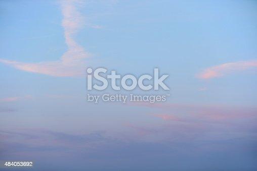 istock Evening sky summer clouds 484053692