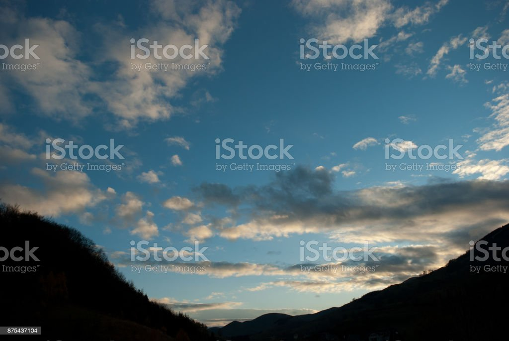 Evening Sky With Clouds stock photo