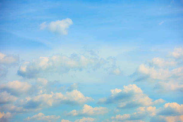 Evening sky with heap clouds stock photo