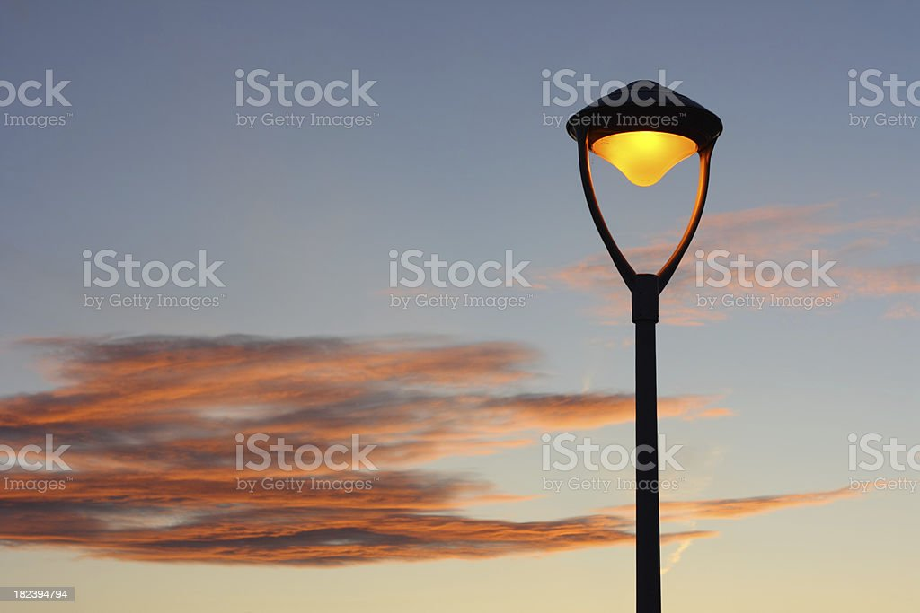 Evening sky with street lamp royalty-free stock photo
