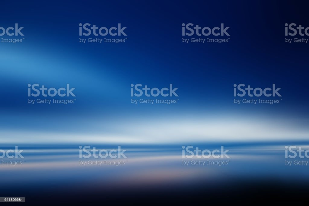 Evening Sly amd Clouds  Abstract Background, Defocused, Blue, White, Fullframe stock photo