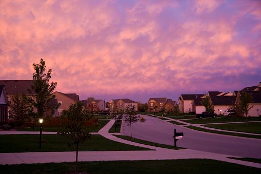 Evening suburbia