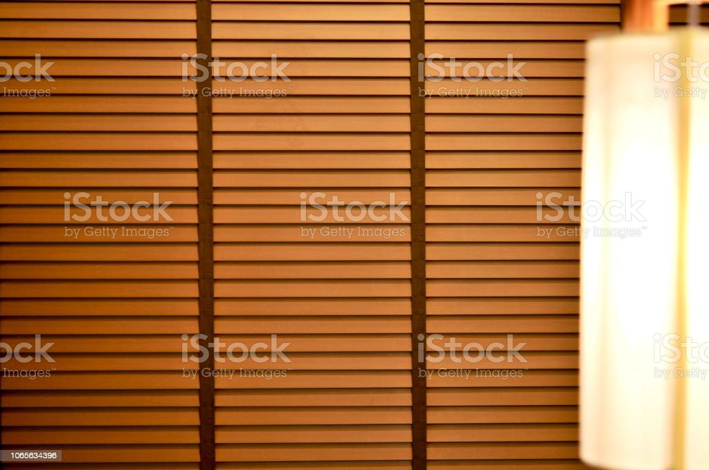 Evening Sun Light Outside Wooden Window Blinds Sunshine And Shadow On Window Blind And Granite Tile Wall Decorative Interior Home Stock Photo Download Image Now Istock