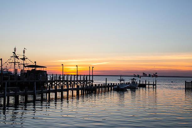 Evening Sunset on Barnegat Bay stock photo