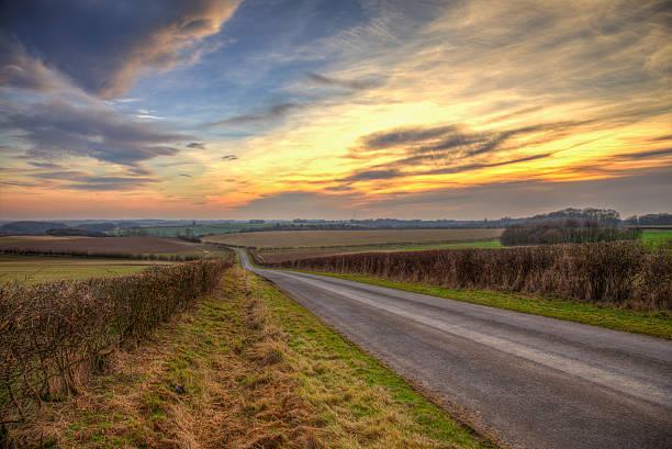 evening sunset - 林肯郡 個照片及圖片檔