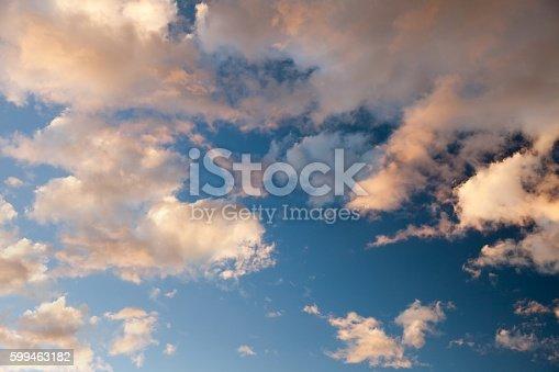 istock Evening sunset view of beautiful sky 599463182