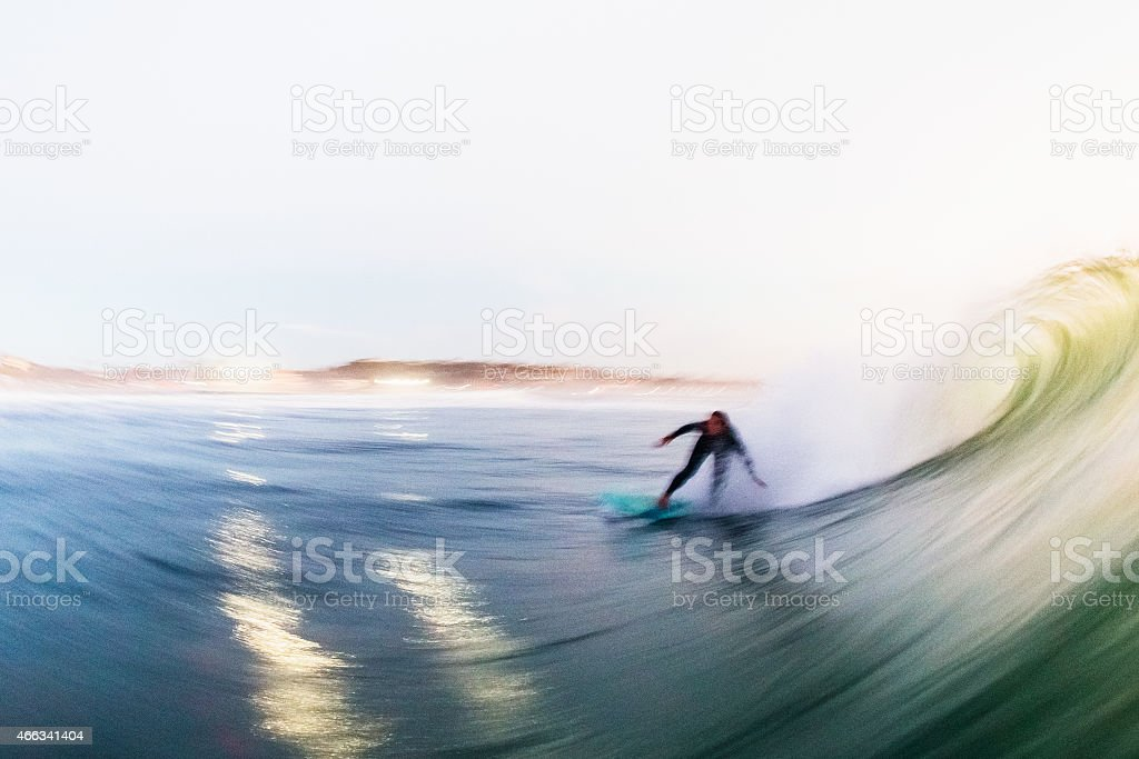 evening surf stock photo