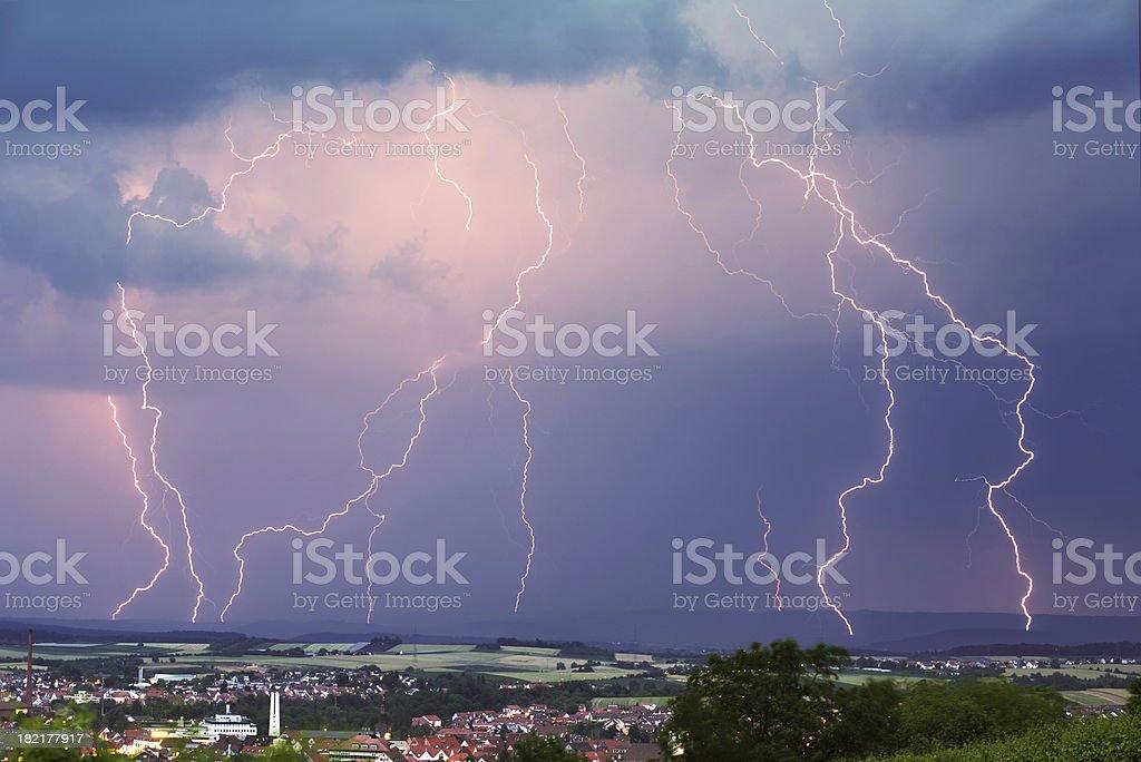 evening thunderstorm royalty-free stock photo