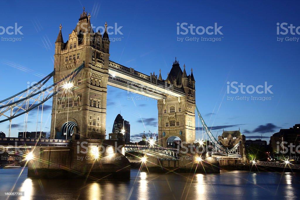 Evening Tower Bridge, London, UK royalty-free stock photo