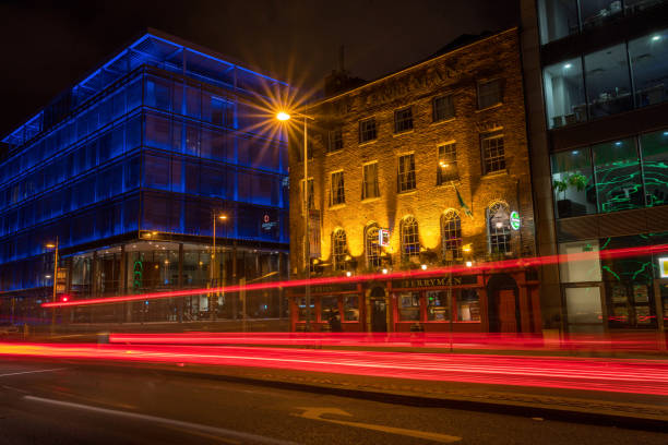Evening traffic in Dublin