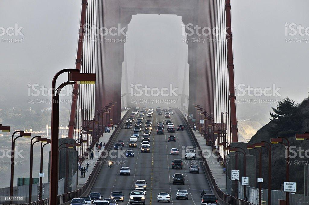 Evening traffic royalty-free stock photo