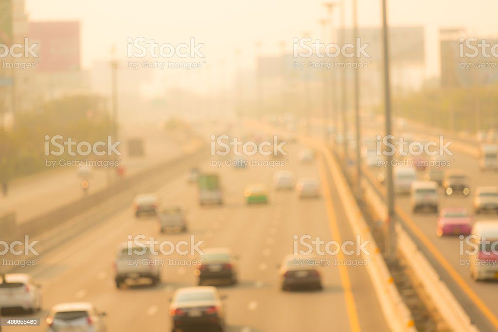 Evening traffic. stock photo
