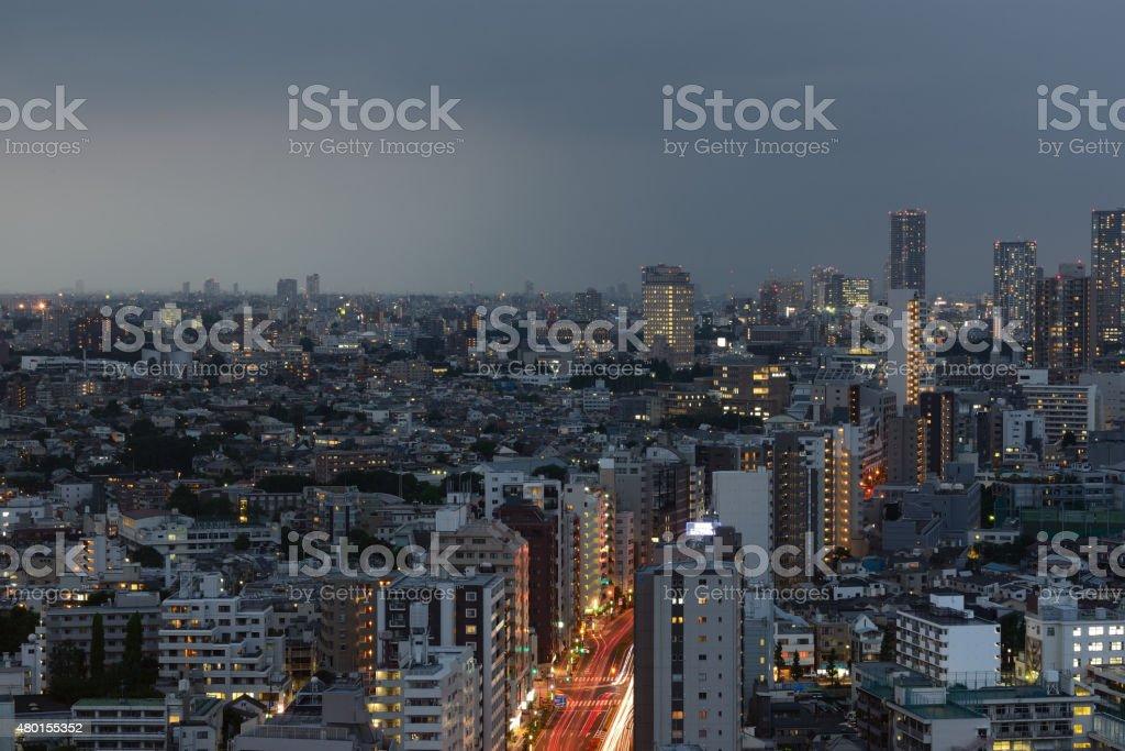 Evening traffic stock photo
