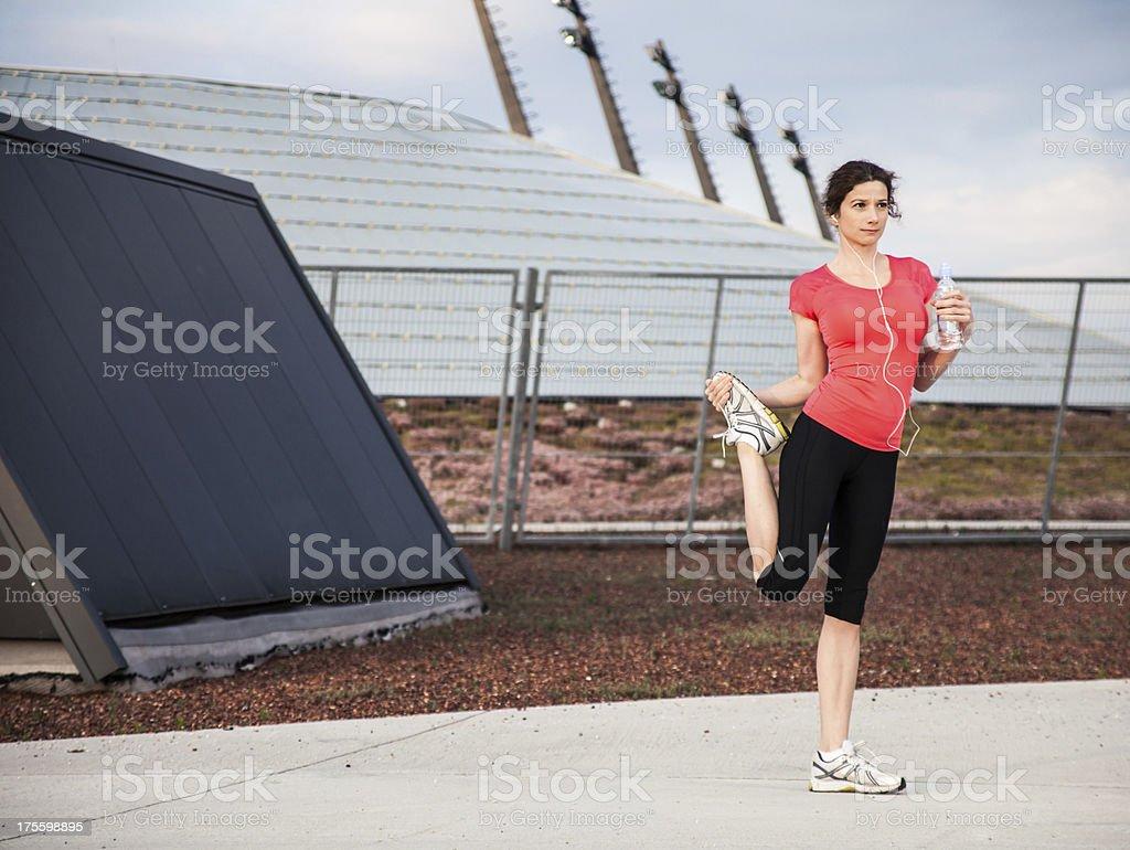 Evening training royalty-free stock photo