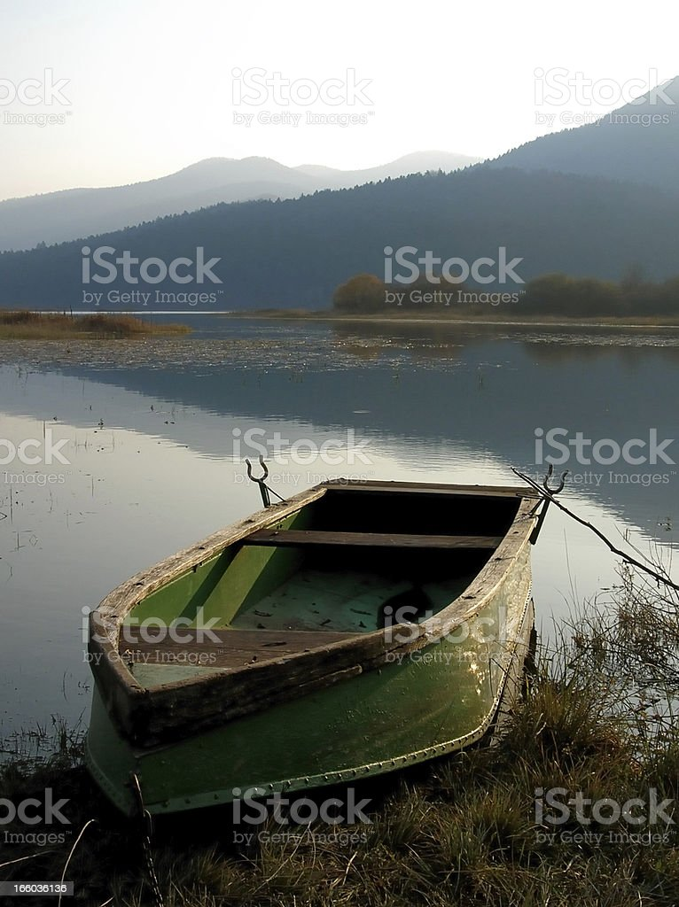 evening tranquility stock photo