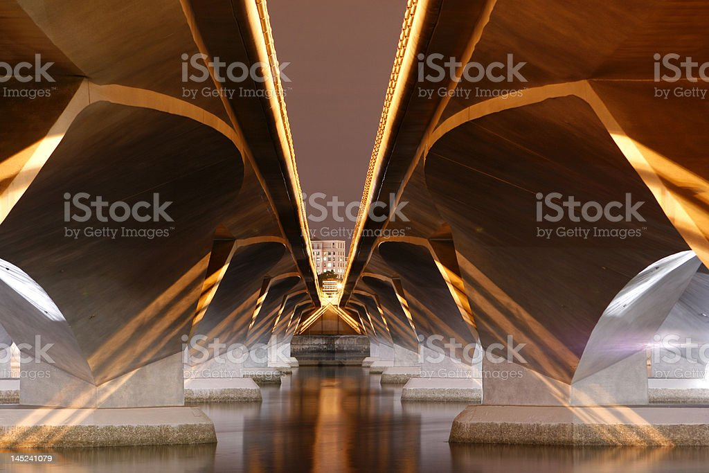 Evening View of a Bridge stock photo