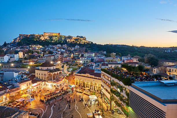 Abend-Blick auf Athen – Foto
