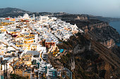 istock Evening view of Fira, Santorini 1280501193