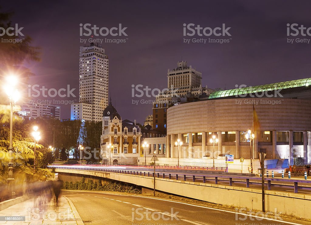Evening view of Madrid royalty-free stock photo