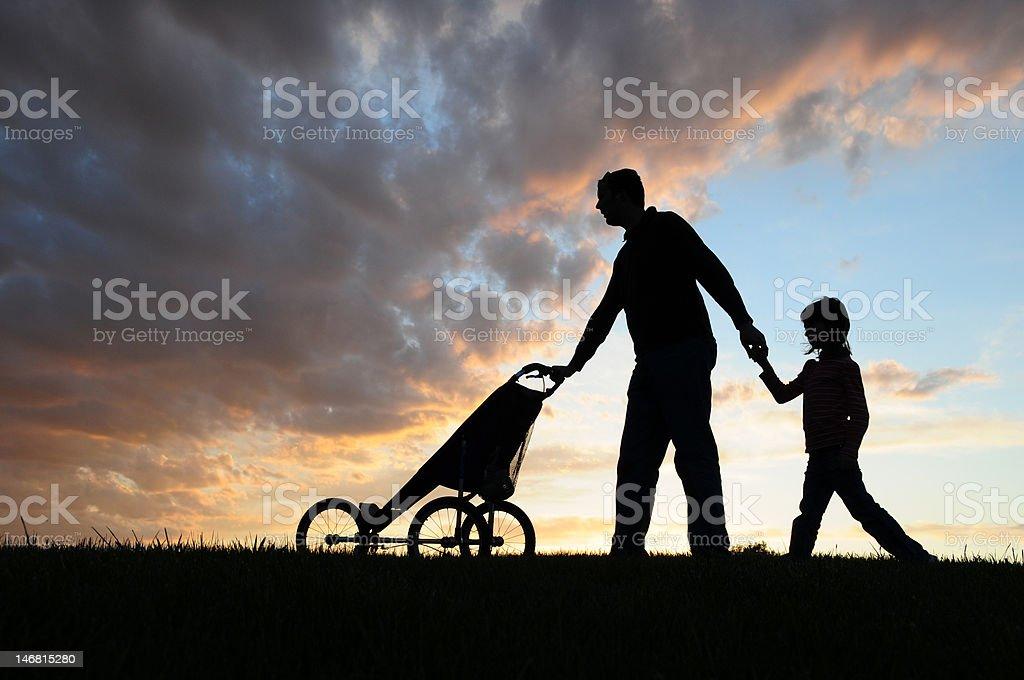 Evening Walk royalty-free stock photo