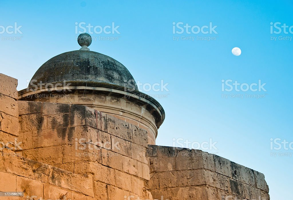 Evening Wall in Malta royalty-free stock photo