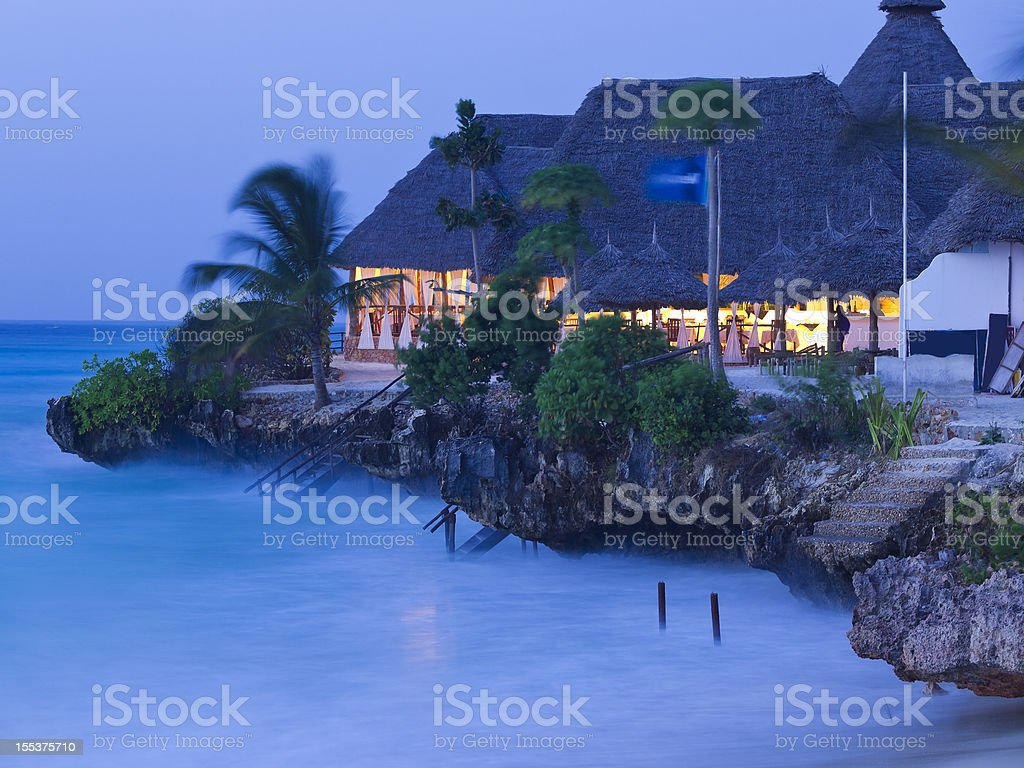 Evening wave at  Nungwi beach royalty-free stock photo